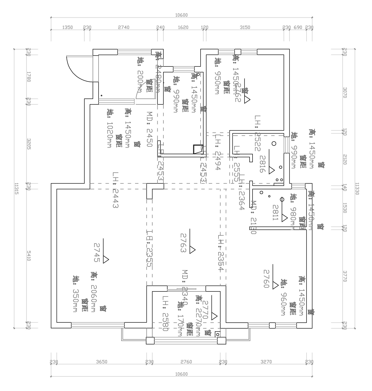 凤凰一品-109m²-现代装修设计理念