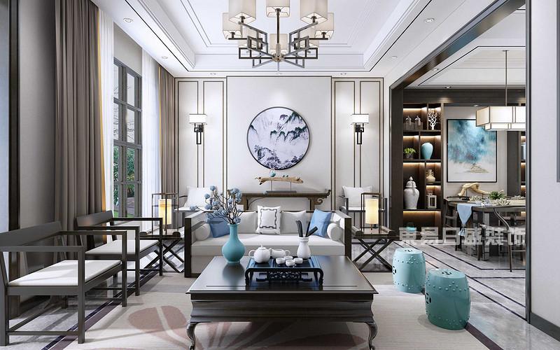 新中式别墅装修效果图欣赏体会中国风魅力