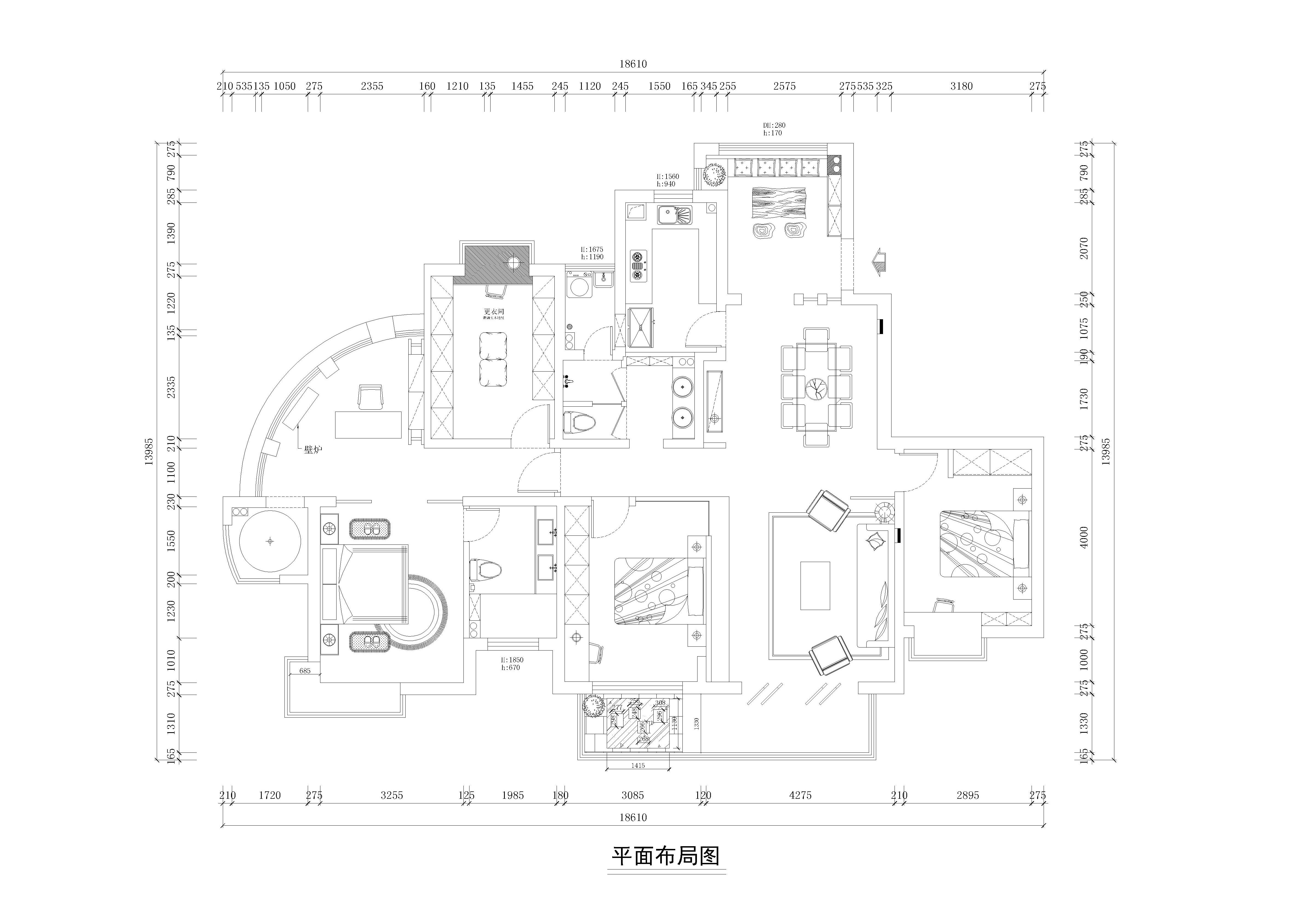 湘江世纪城现代中式风格178平米鸟语花香装修设计理念