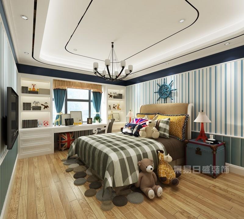 美式风格 卧室_儿童房装修设计