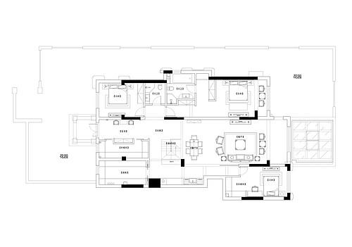 中粮隆玺世家202平新中式风格案例装修设计理念