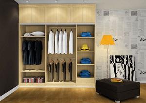 家庭卧室中整体衣柜要怎么安装