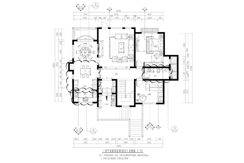 天恒别墅山-新中式-477㎡装修设计理念