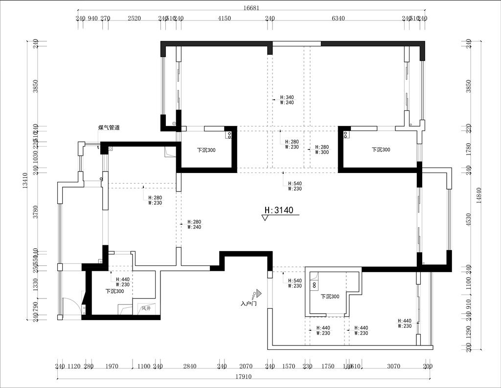 壹号公馆 中式风格 200㎡装修设计理念