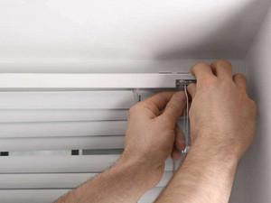 手动百叶窗安装方法