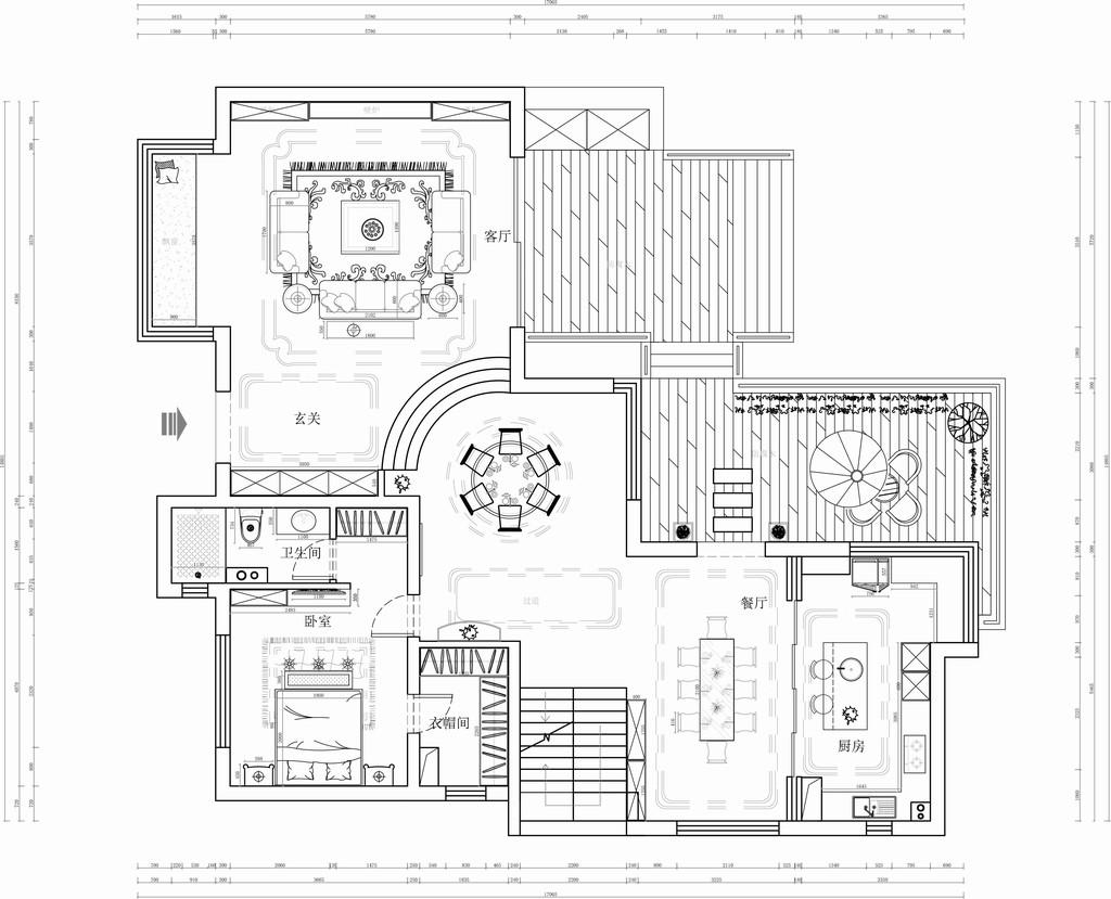 北京湾-简美装修风格-800平米装修设计理念