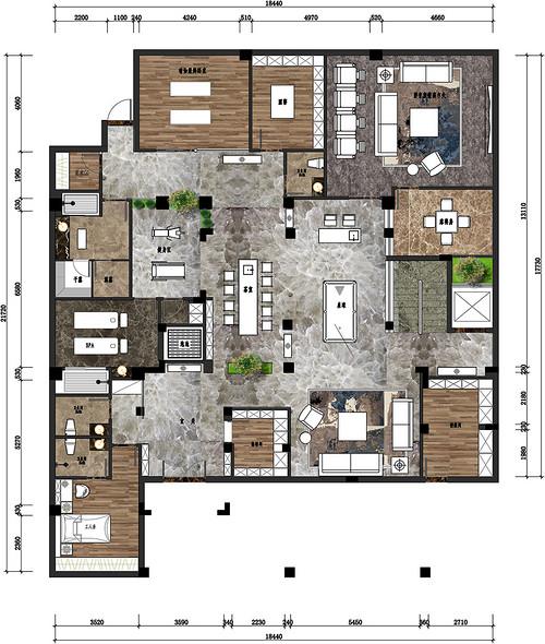 松山湖3号别墅家装案例-1008㎡新中式别墅装修效果图装修设计理念