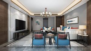 深圳别墅装修效果图 380平米新中式风格装饰设计