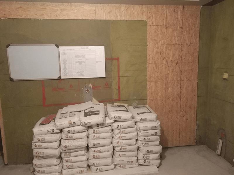 装修材料堆放