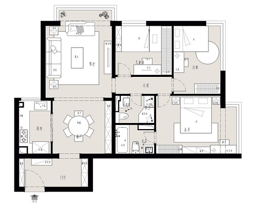 远见名苑-86平米-简欧风格装修设计理念