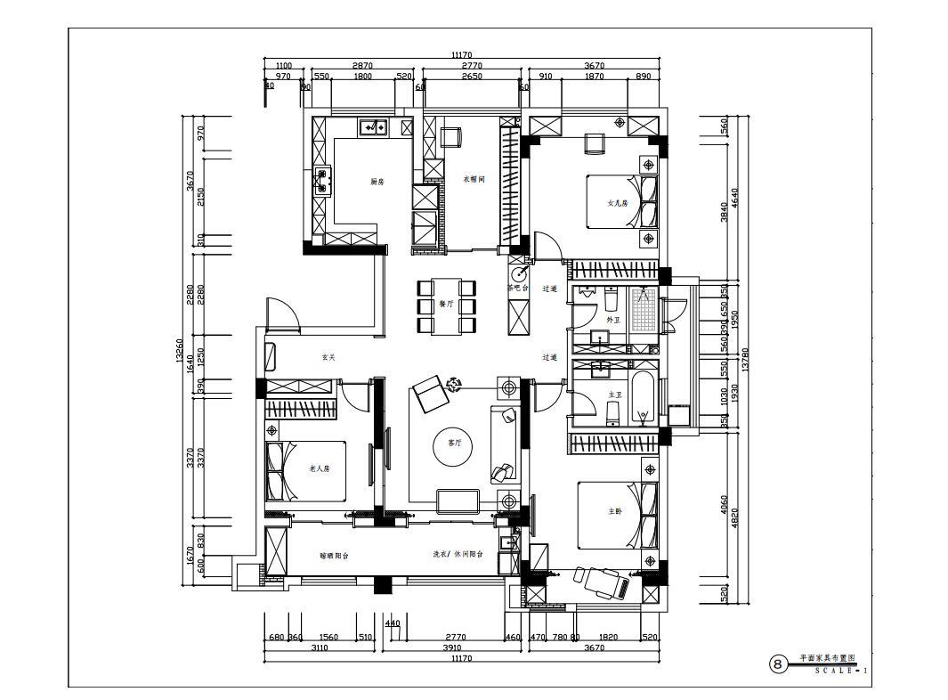 苏州碧堤半岛140平米美式风格装修效果图装修设计理念