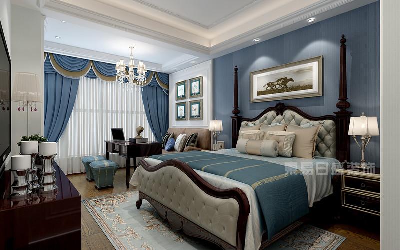 香山美墅 欧式风格 卧室装修效果图 这是香山美墅大平层装修中的三间