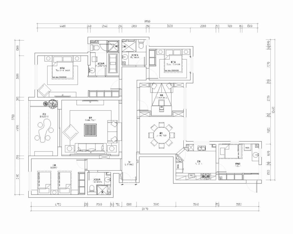 融侨城-新古典-195平米装修设计理念