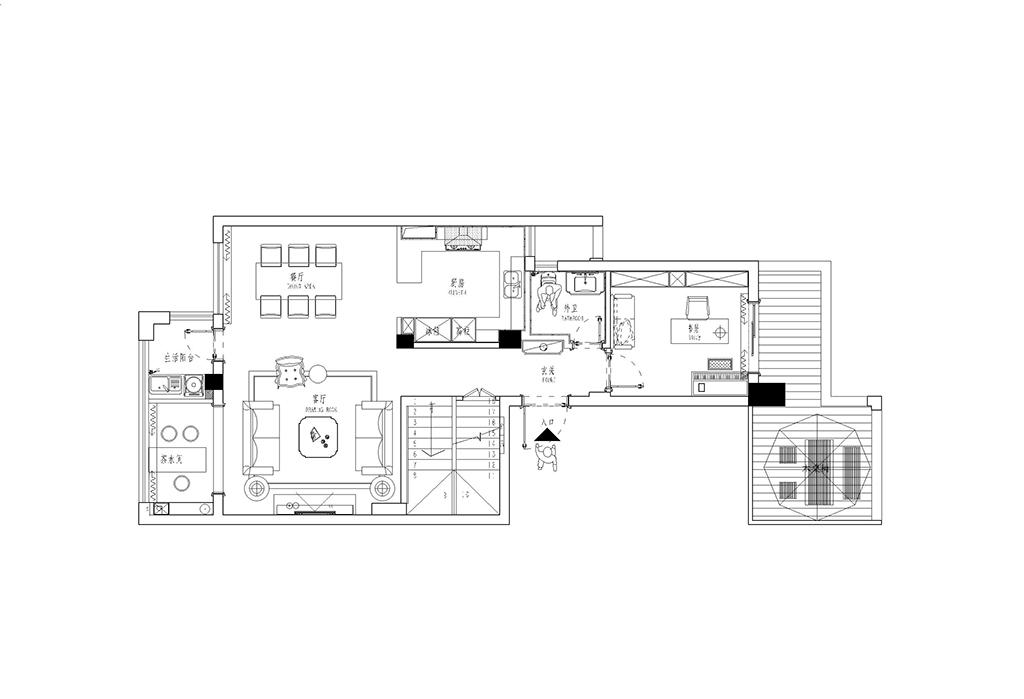 金域中央250平跃层北欧风格设计装修效果图装修设计理念