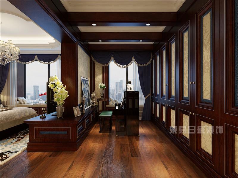 衣柜 钢琴_新古典房子装修效果图图片
