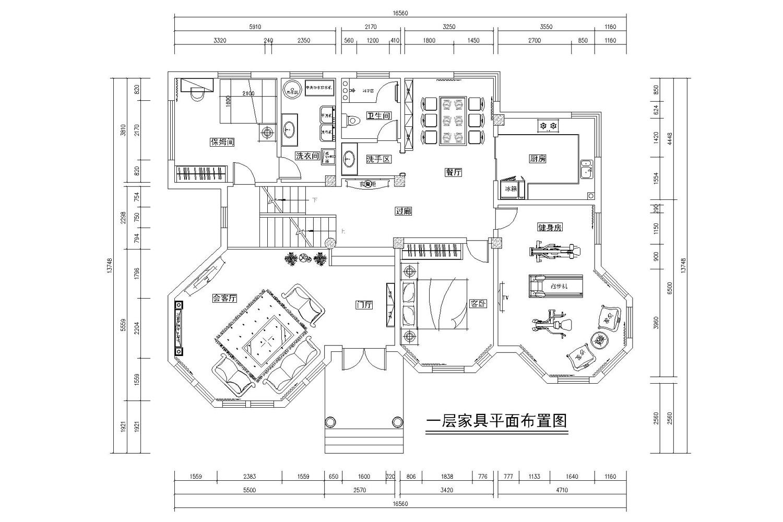 蓝湾-欧式古典-360平装修设计理念