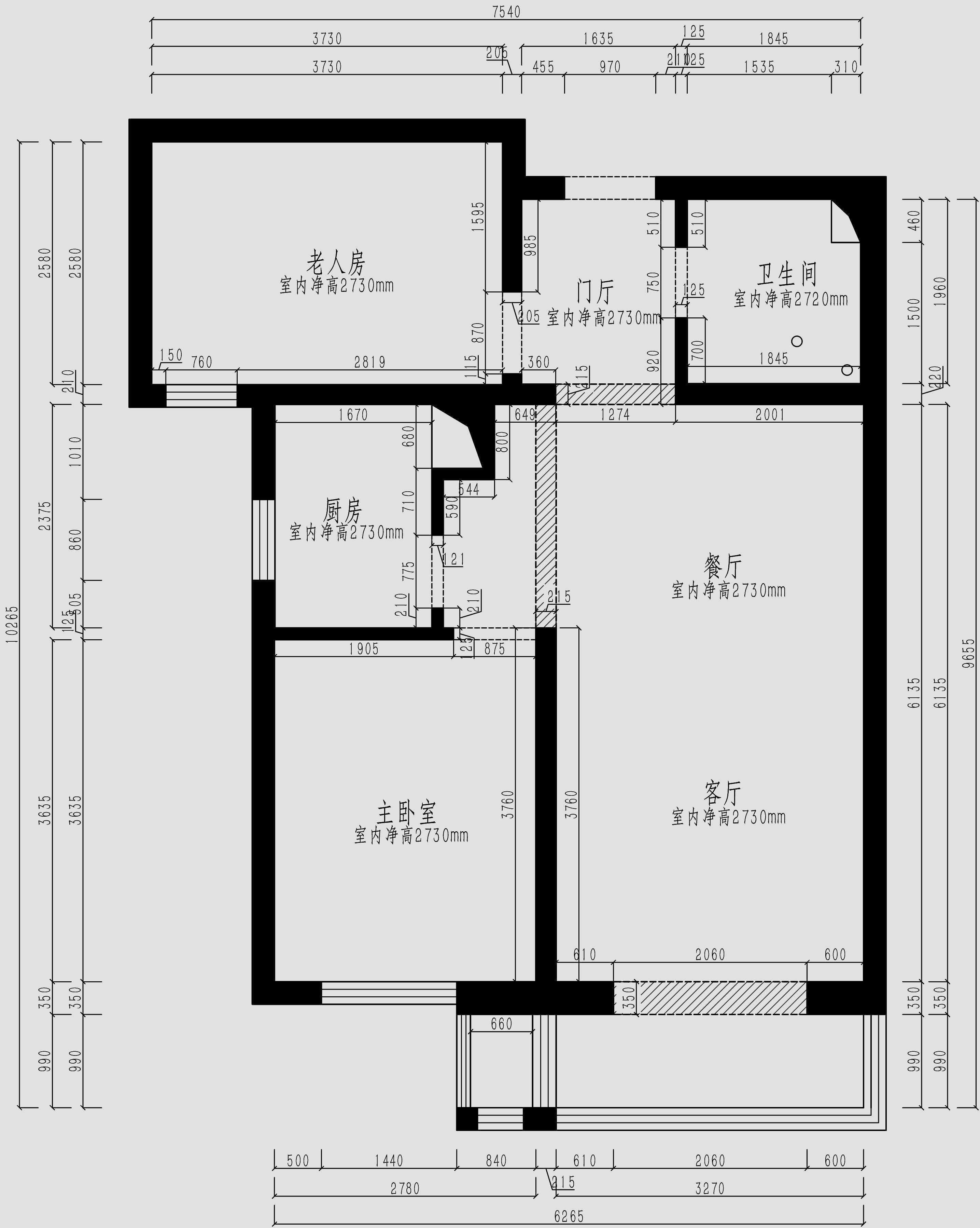 维多利亚上院96平二室二厅现代简约风格装修效果图装修设计理念