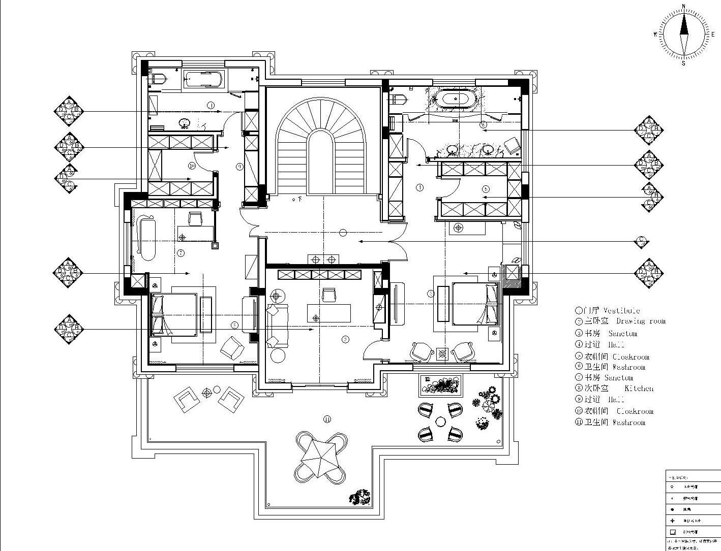 自建别墅 新古典 550平装修设计理念
