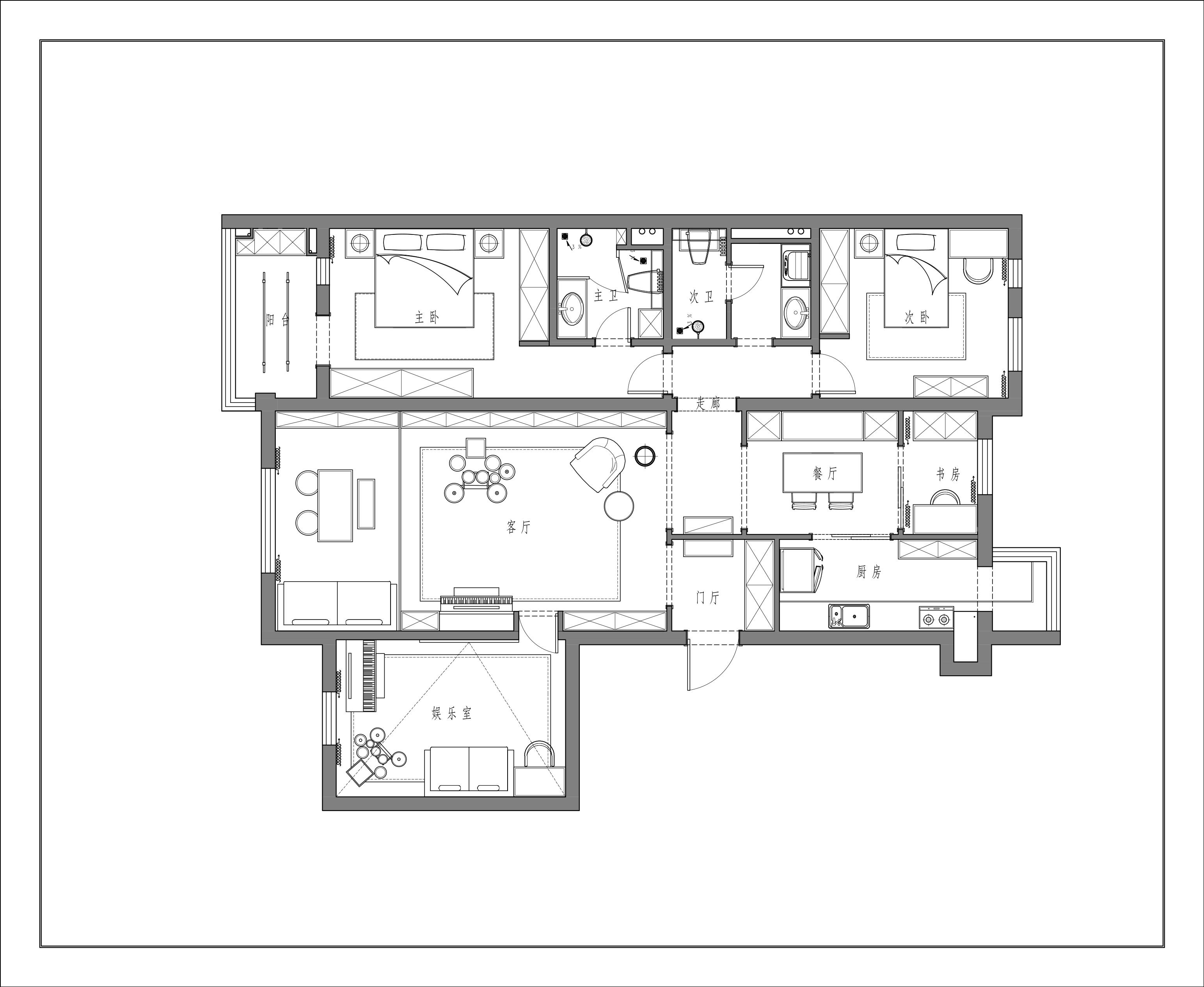 18号院-新中式-138平米装修设计理念
