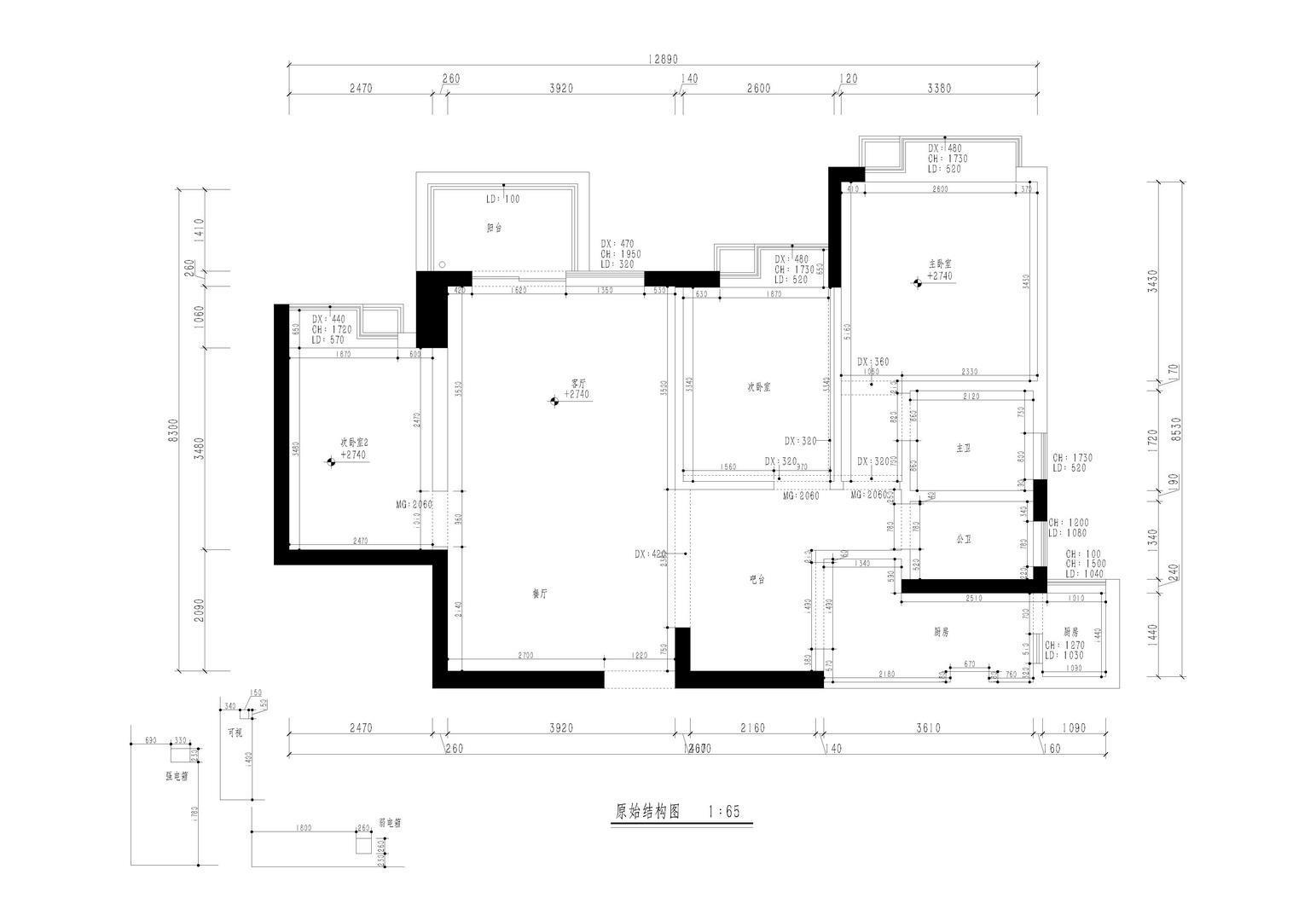 缤纷假日豪园-105平米装修-现代简约风格设计案例装修设计理念