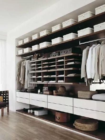一面墙就是衣帽间,墙面衣帽间设计效果图