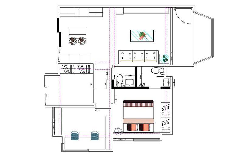 老房子改造装修案例-平面图