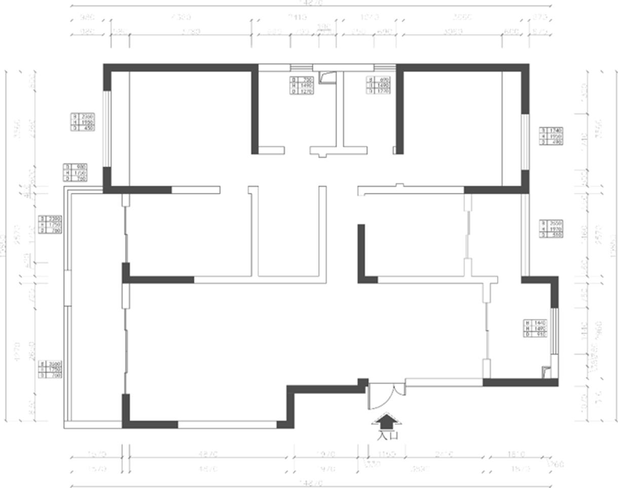 昆明华夏御府-御堂145㎡轻东方主义风格装修效果图装修设计理念