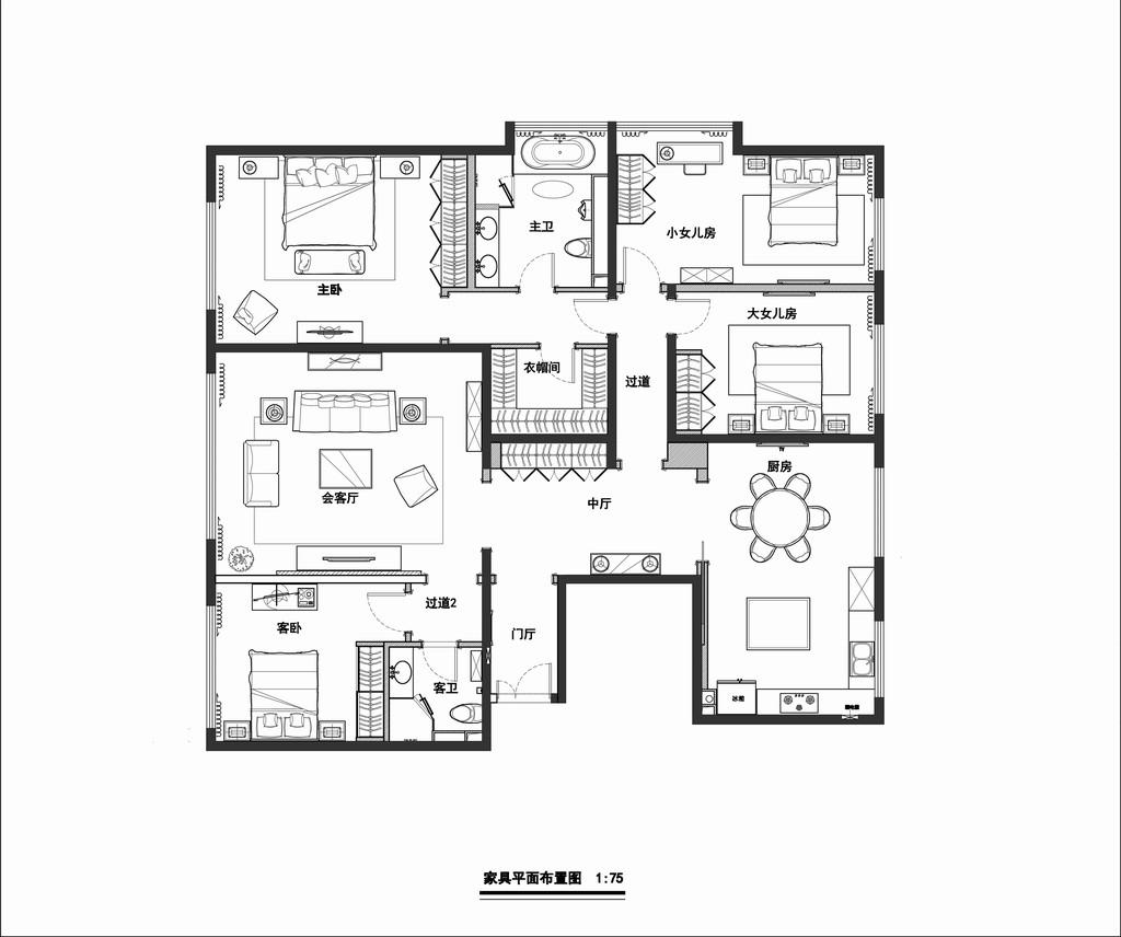 西山壹号院-简约美式-181平米装修设计理念
