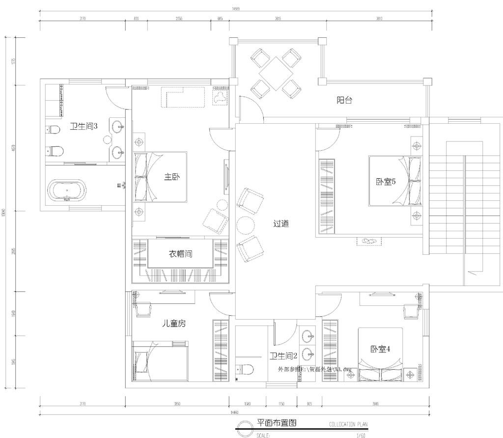 常阳新力别墅400平米欧式风格装修效果图装修设计理念