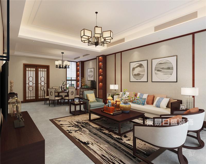 新中式风格客厅装修效果图-东易日盛装饰设计