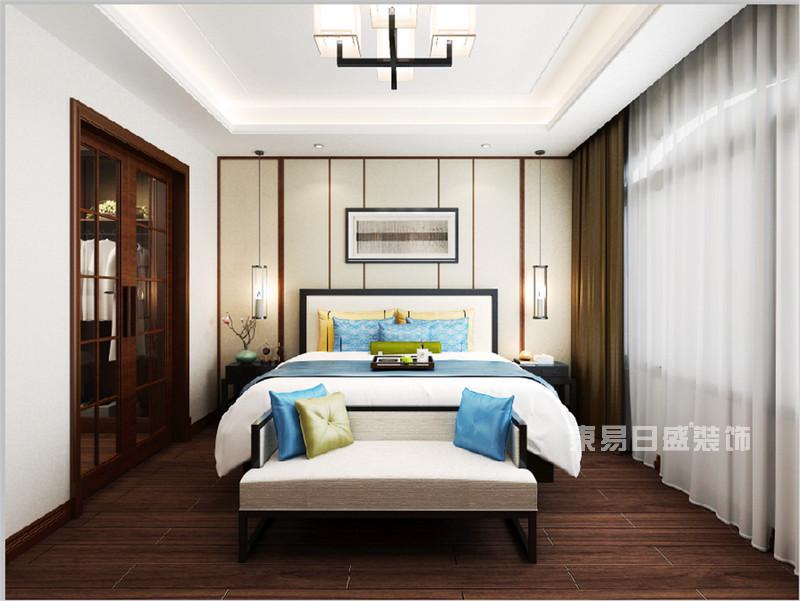 新中式风格卧室装修效果图_东易日盛装饰设计