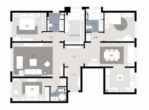 西山壹号院-美式-200平米装修设计理念