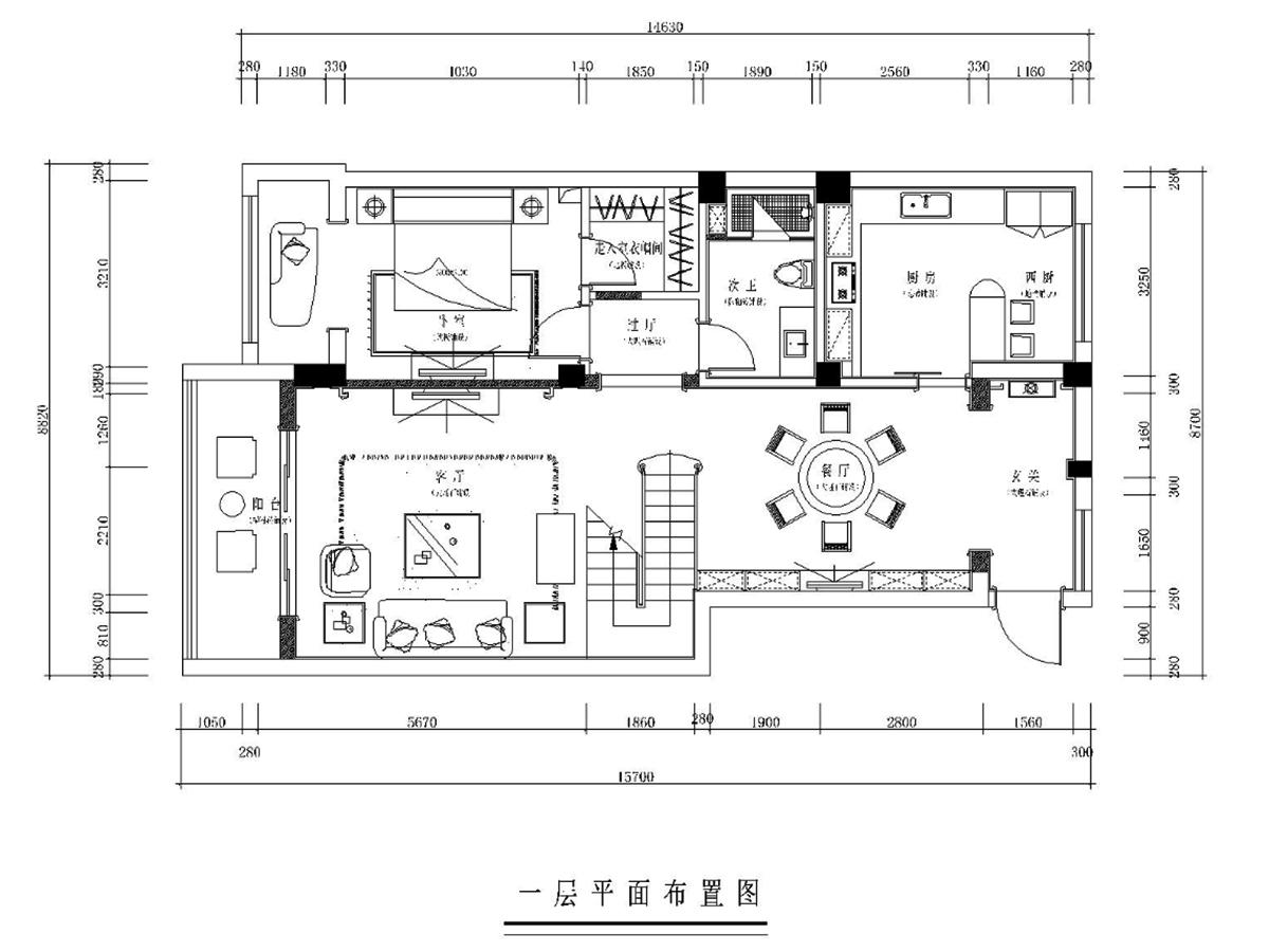 美郡简欧风格350平米装修设计理念
