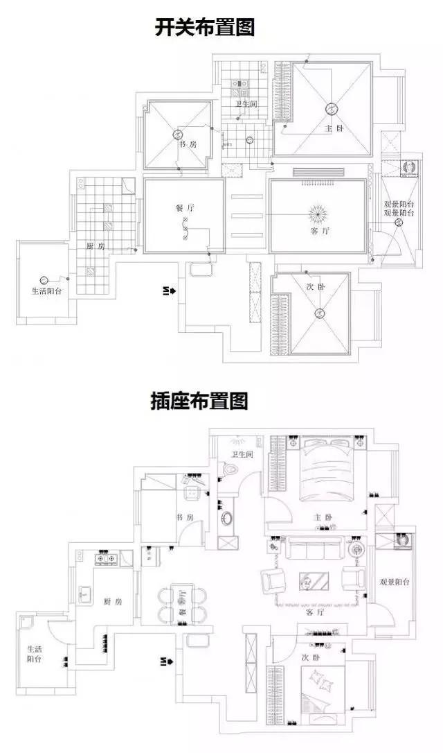 三室两厅的户型(图一)