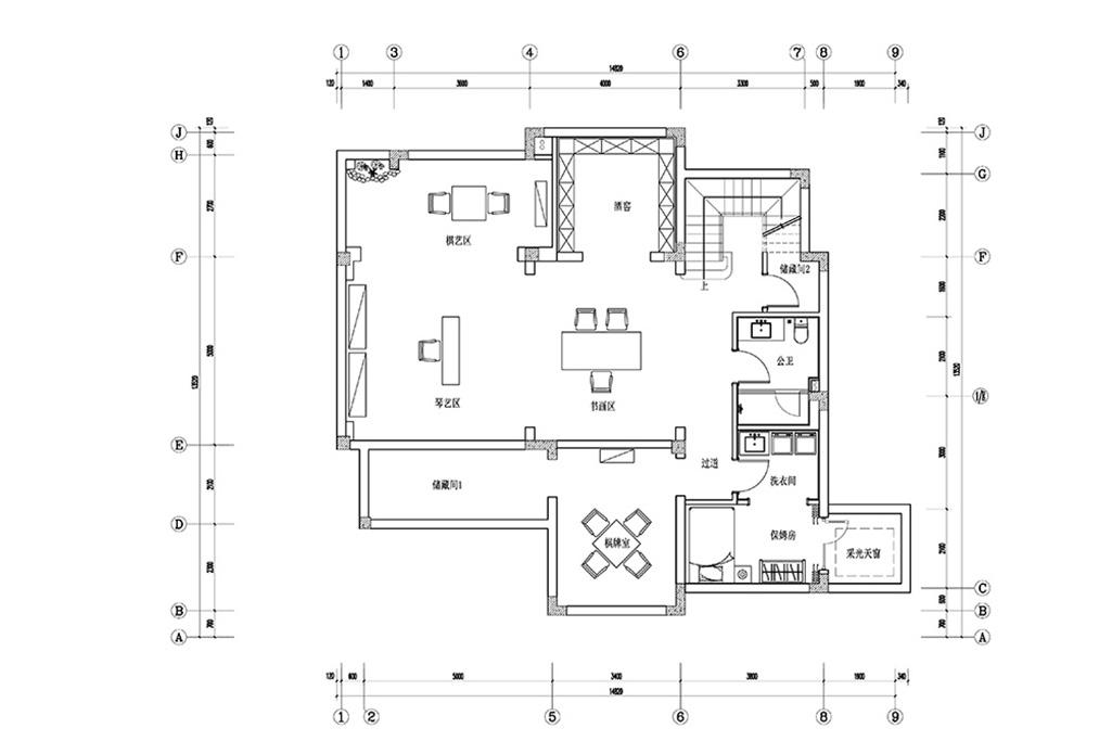 玫瑰园-新中式-400㎡装修设计理念