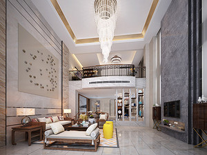 锦绣山河观园390㎡ |简约格调,打造大空间里的舒适感