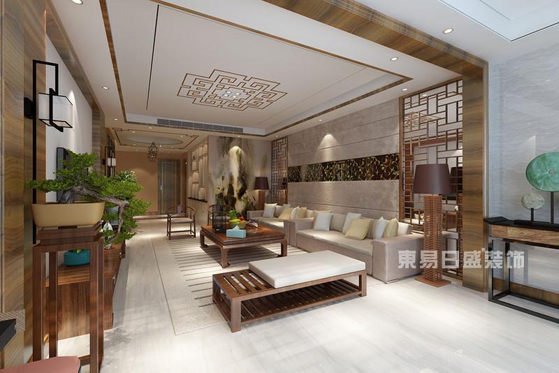 这些中式客厅吊顶装修效果图和自己家里有什么不同