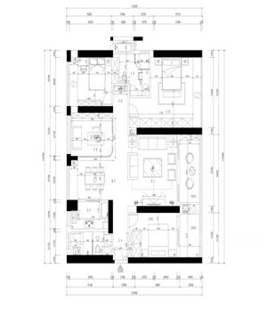 博林天瑞167平米2A户型解析
