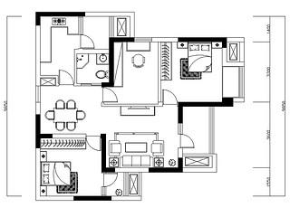 华润橡树湾-94平米-欧式古典-三室两厅一厨两卫