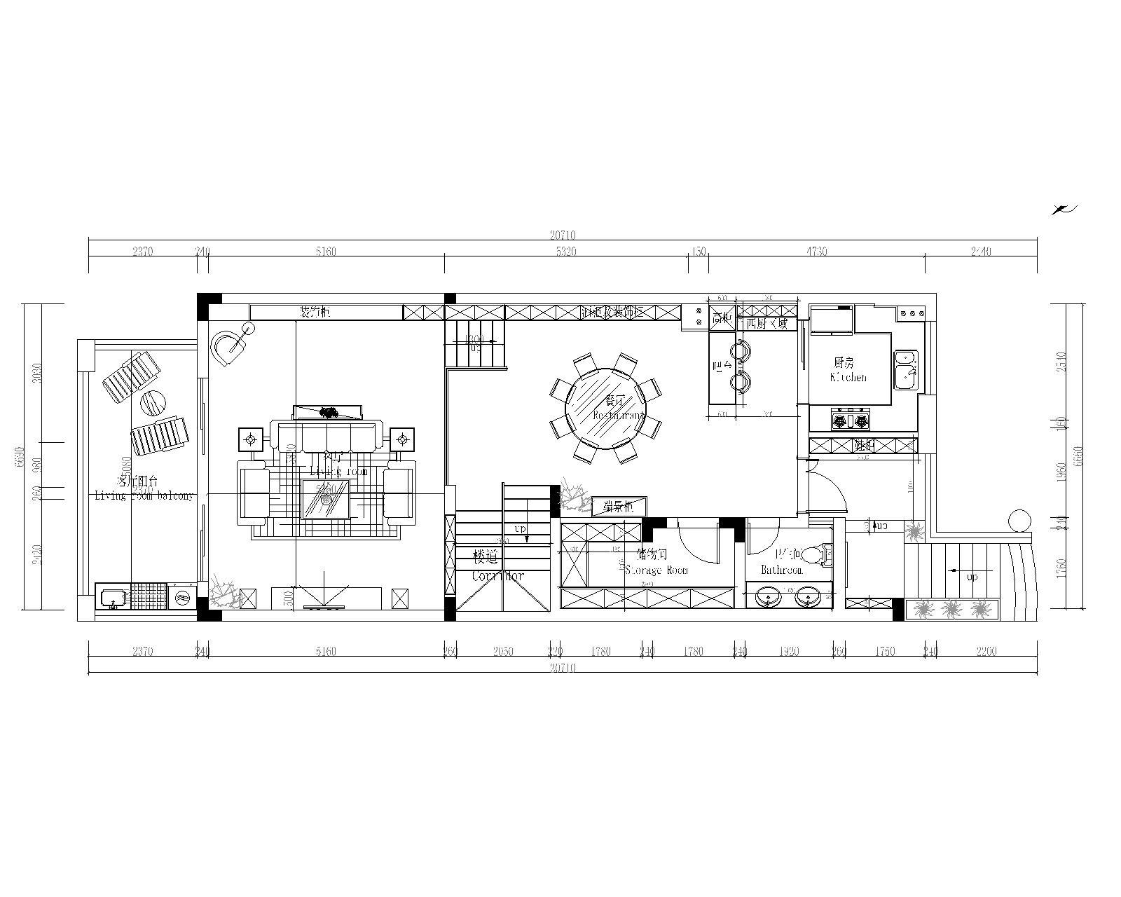 龙岸花园-现代简约风格-525㎡平层装修效果图装修设计理念