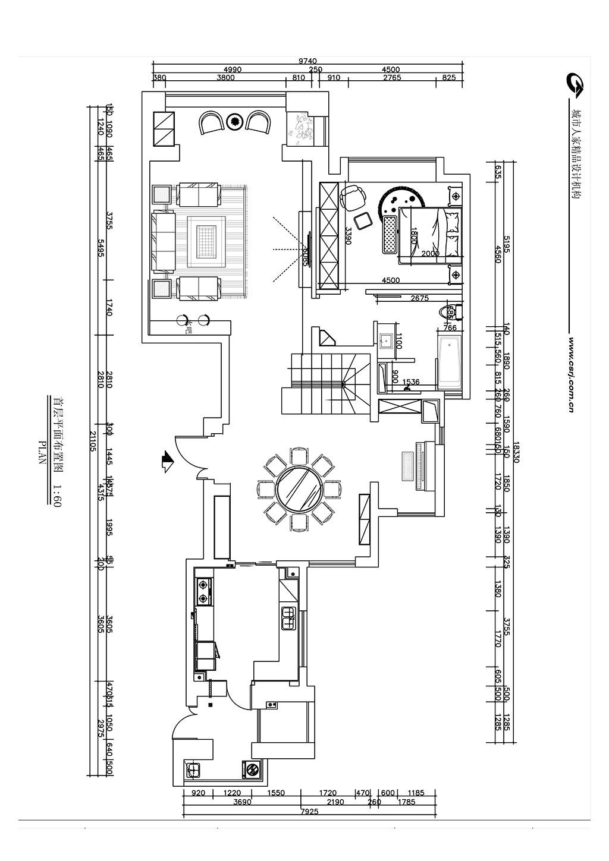 逸翠园 简约装修效果图 三室两厅280装修设计理念