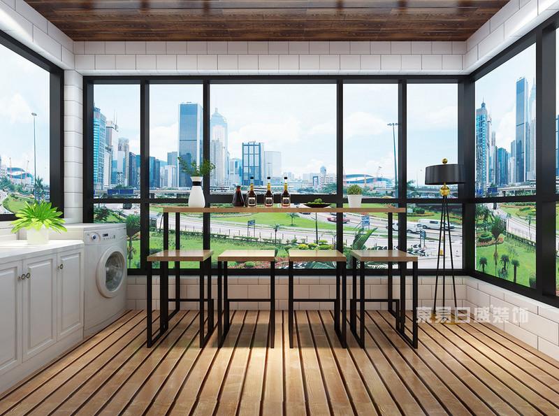 客厅连着阳台的装修,除了推拉门设计,还可以怎样设计?