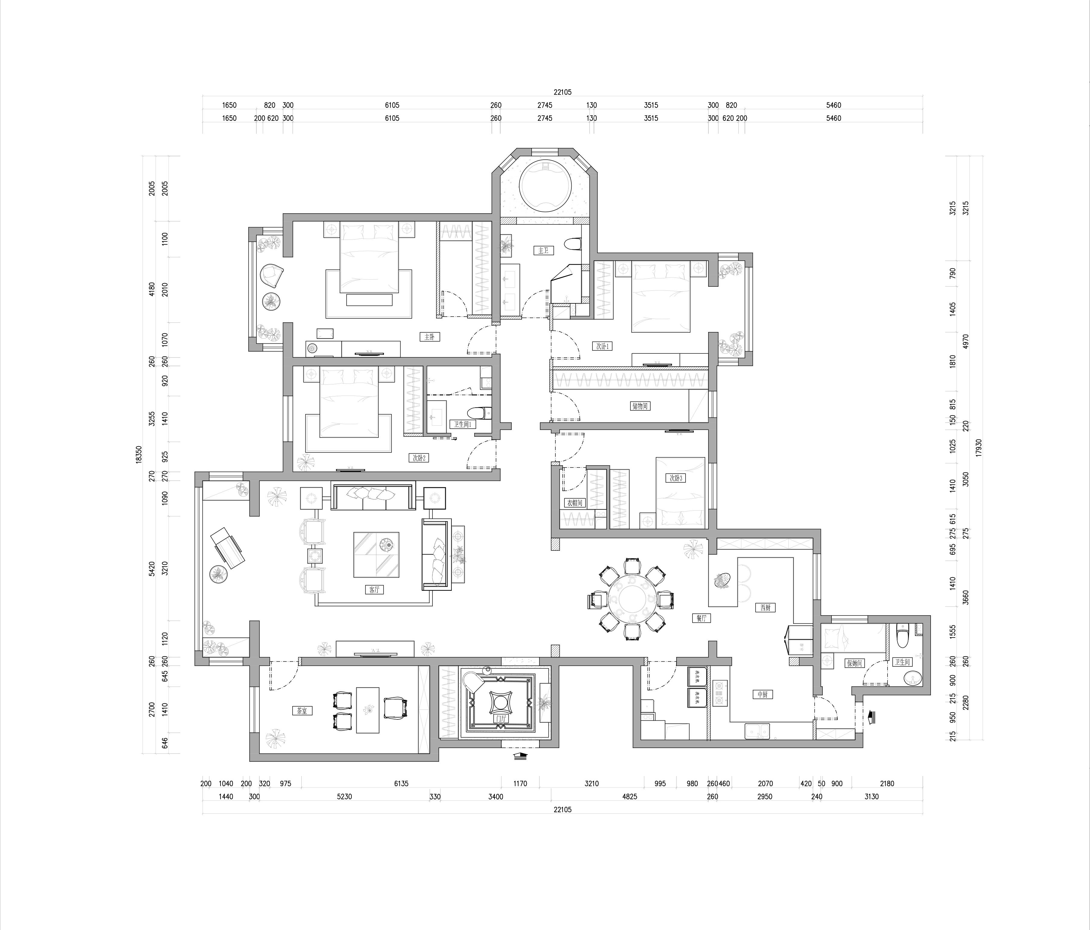 阳光上东-新中式风格-310㎡装修设计理念
