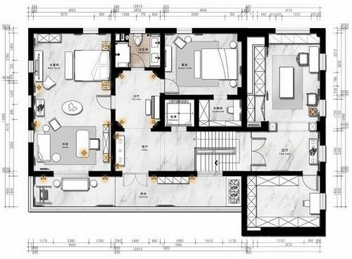 波特兰墅-法式-350平米装修设计理念
