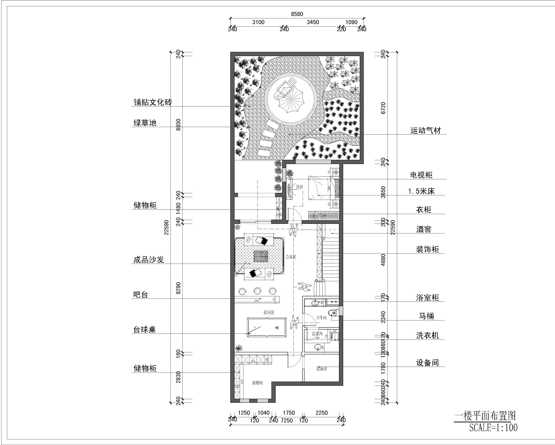 龙湖香醍 田园混搭 300平米装修设计理念