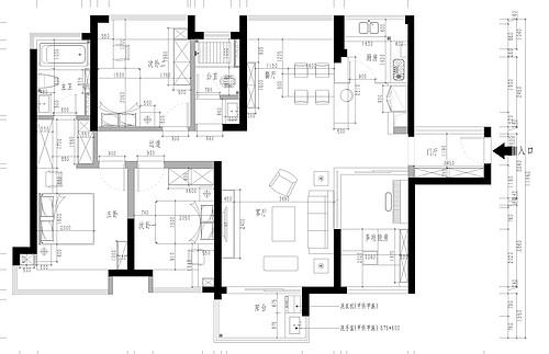 东城鼎峰尚境家装案例-139㎡现代简约风格四房二厅装修效果图装修设计理念
