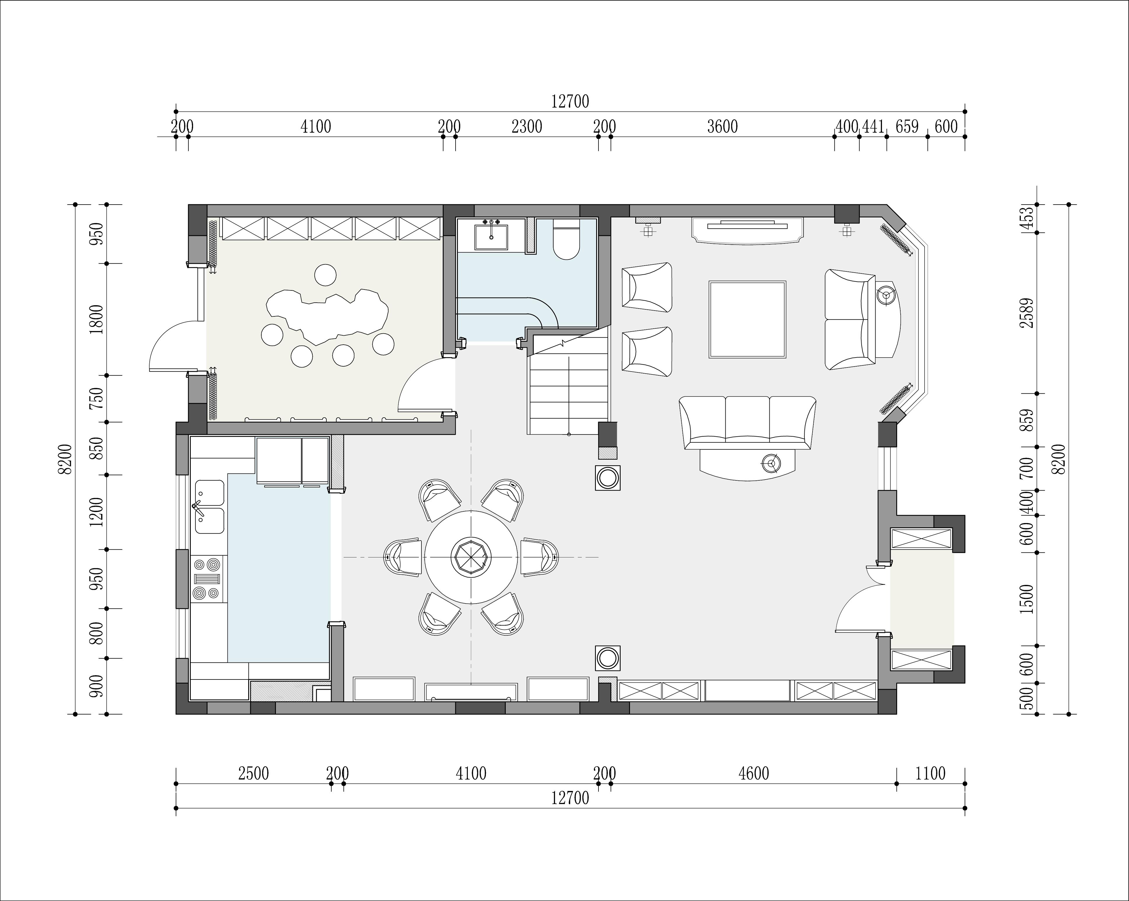 骊山国际 189㎡ 欧式风格装修设计理念