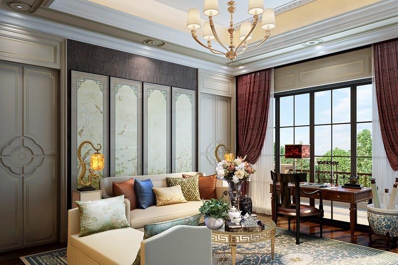 高端别墅装修设计 挑选中式实木沙发的技巧