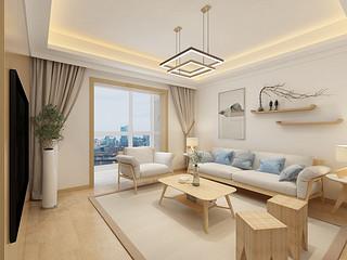 十里玫瑰-日式风格-85平米-两室两厅装修样板间
