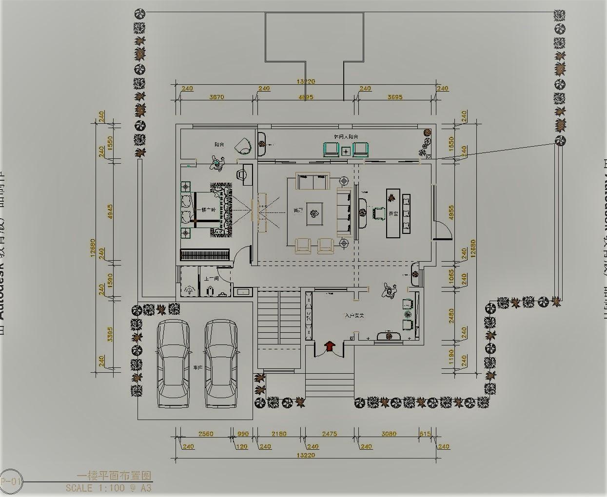天水开元国际_346平米_新中式风格装修案例效果图装修设计理念